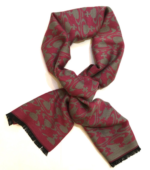 vivienne westwood on and off scarf red