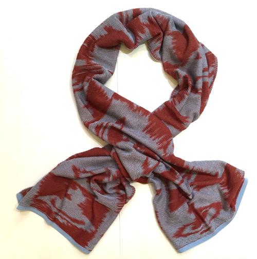 vivienne westwood ikat orb scarf red