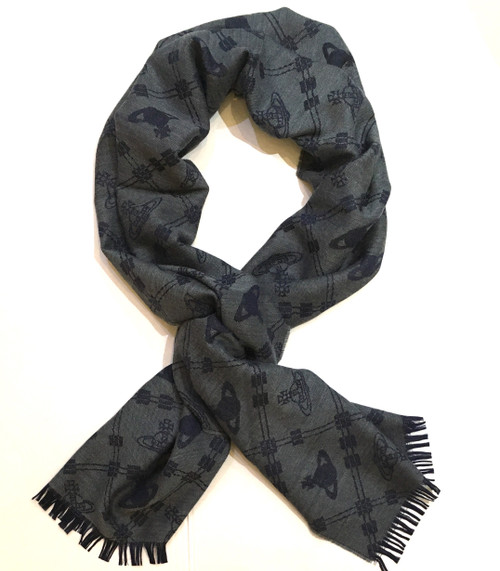 vivienne westwood up and down scarf grey