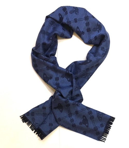 vivienne westwood up and down scarf blue
