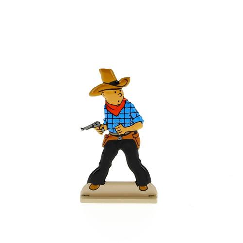 Tintin Metal Figure Cowboy