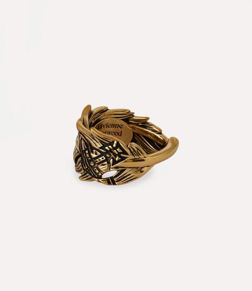 vivienne westwood eugenio ring antique gold 1