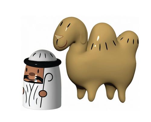 amir and camelus figurines alessi