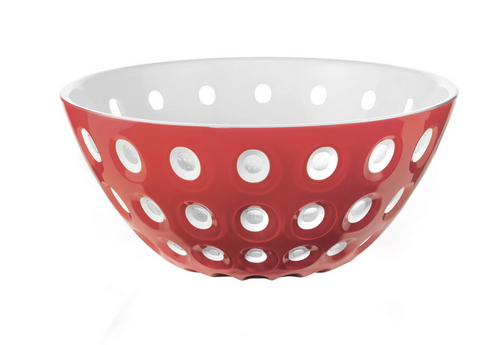 le murrine bowl red transparent white
