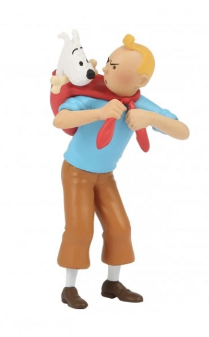 Tintin Figure Carrying Milou / Snowy