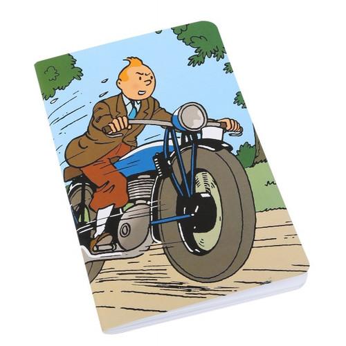 tintin notebook motorcycle