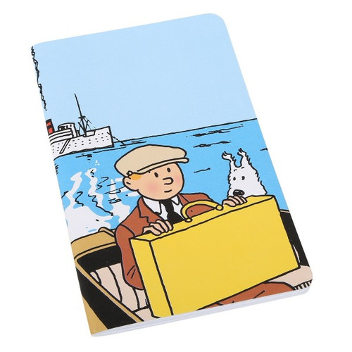 tintin notebook boat