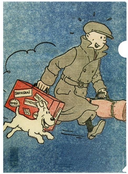 tintin folder 1934 broken ear