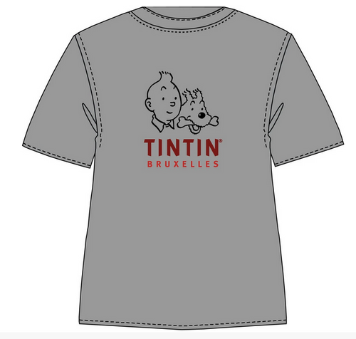 Tintin TShirt Logo Bruxelles