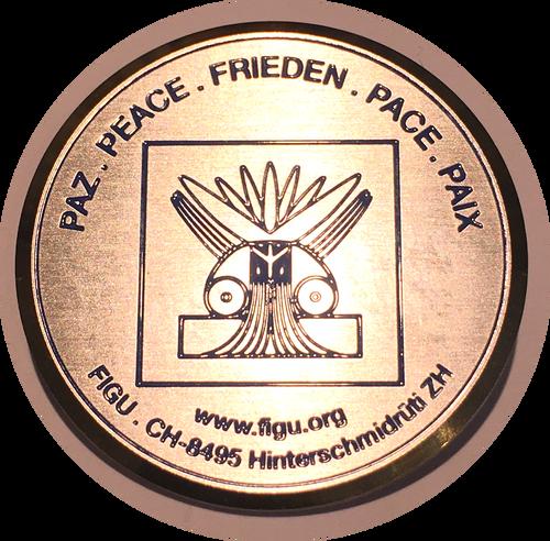FIGU Peace Symbol pin