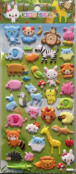 Stickers Mini Puffy Animals 4