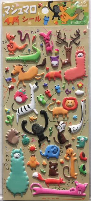 animal mini puffy animal stickers 2