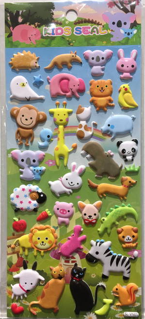 animal puffy stickers 1