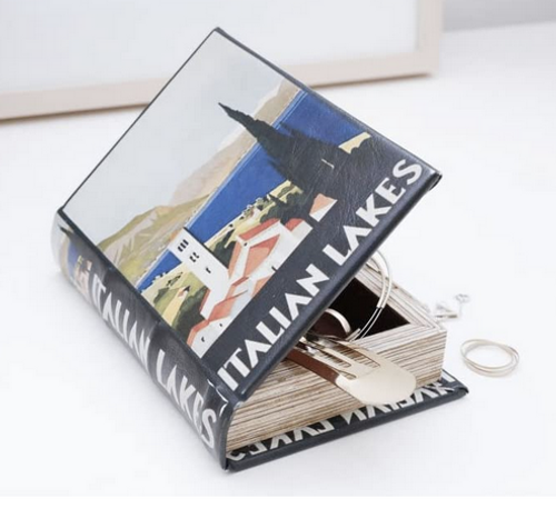 kikkerland italian lakes book storage box 1