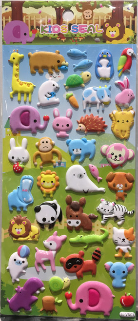 Stickers Mini Puffy Animals 03