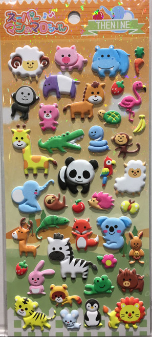 Stickers Mini Puffy Animals Thenine