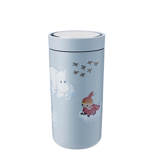 Moomin To Go Click Stelton steel cup cloud