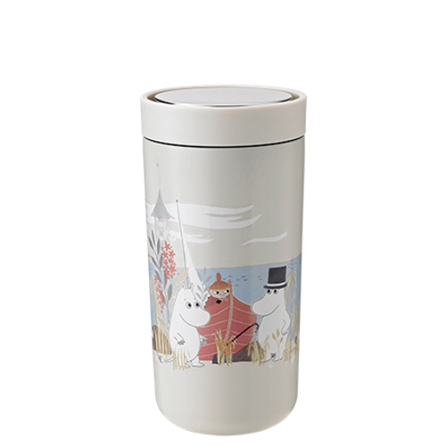 Moomin To Go Click Stelton steel cup sand