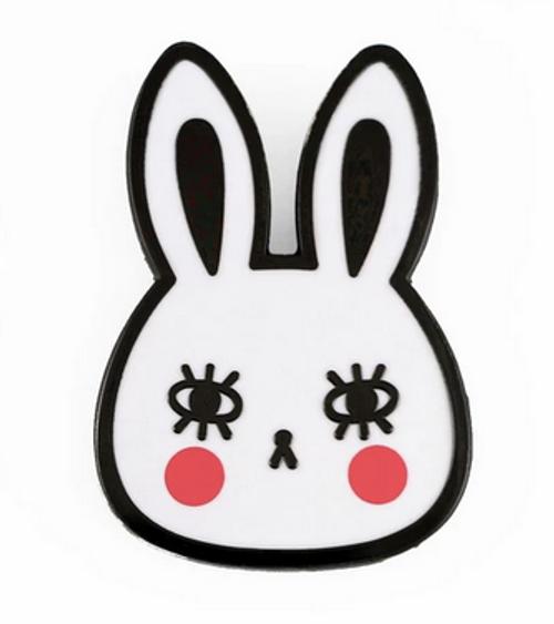Bunny Enamel Badge