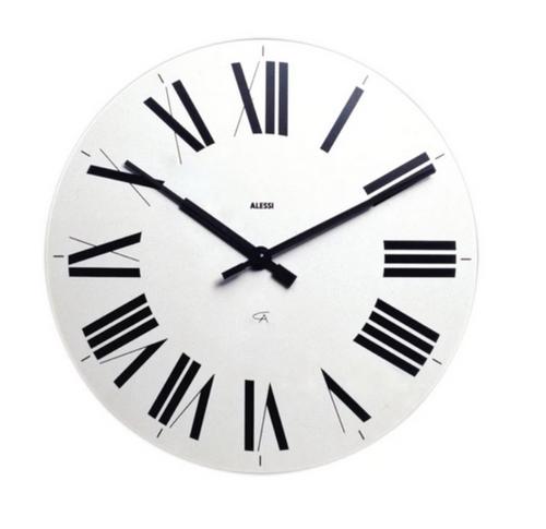 alessi firenze wall clock white