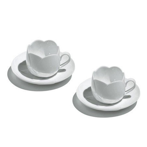 tulip teacup set alessi