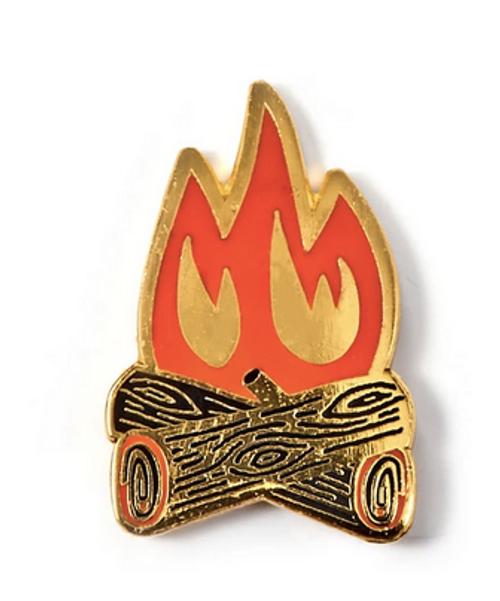 campfire enamel badge