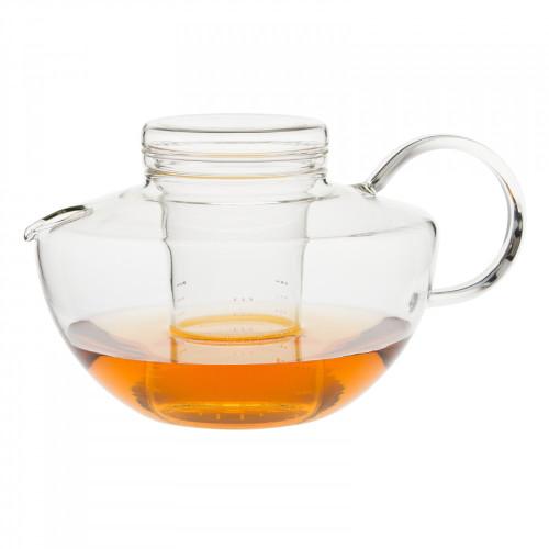 trendglas kando glass teapot with laser strainer