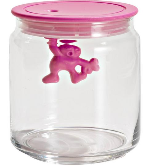alessi gianni jar pink lid