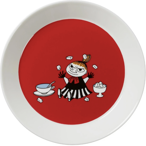arabia little my teema plate red