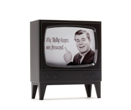 telly television note holder monkey business charcoal