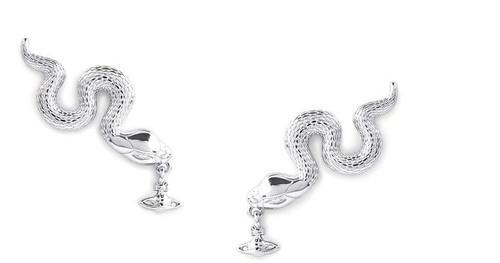 vivienne-westwood-Rhodium Avalon-Earrings