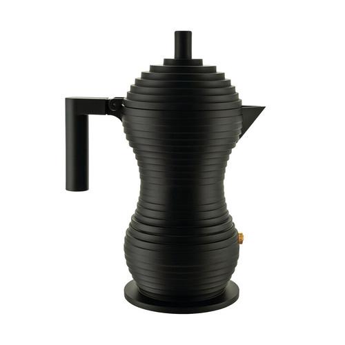 alessi pulcina 6 cup espresso maker black