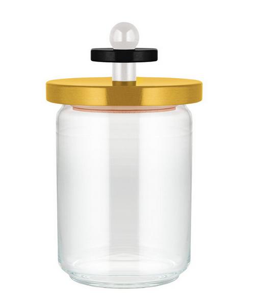 ES16/100 1 Sottsass Twergi Jar yellow / Alessi Values Collection