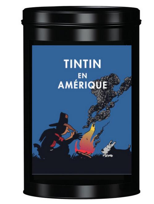 Tintin arabica coffee with tin