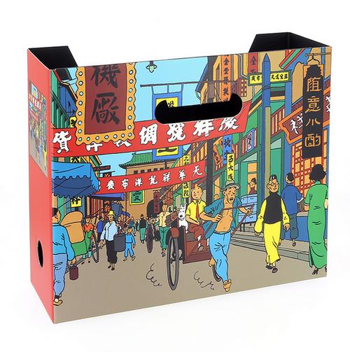Tintin File Box Blue Lotus