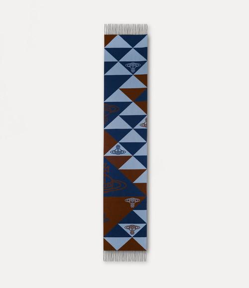 Vivienne Westwood Mandala Orb Scarf light blue 2