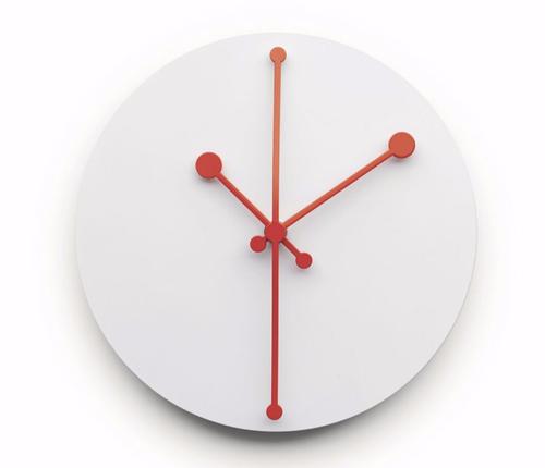 Dotty Clock white