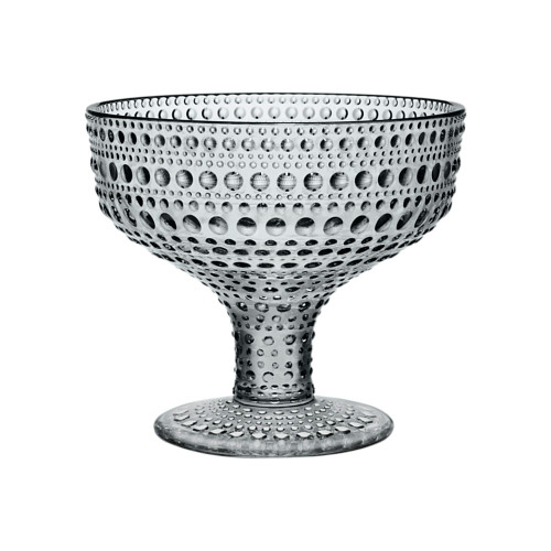 Kastehelmi Footed Bowl grey