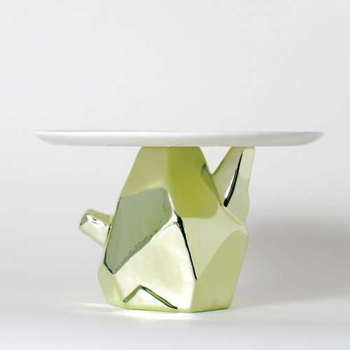 Candy Rock Crystal Plate green
