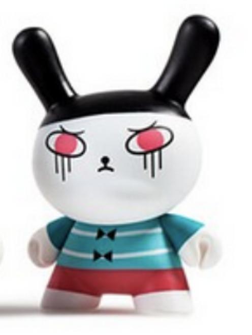 "Designer Toy Awards  3"" Dunny Kidrobot / open box"