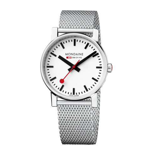 Official Swiss Railways Watch Evo Steel Band [35 mm Ø]