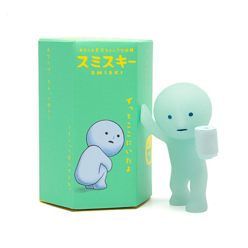 Smiski Bath figures have a bluish glow