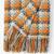 burel blanket Porto orange-grey 2