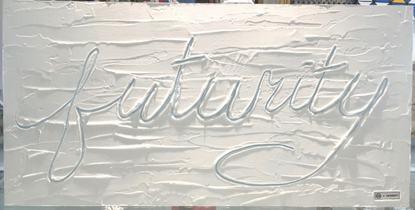 Futurity in blue [Cursive]