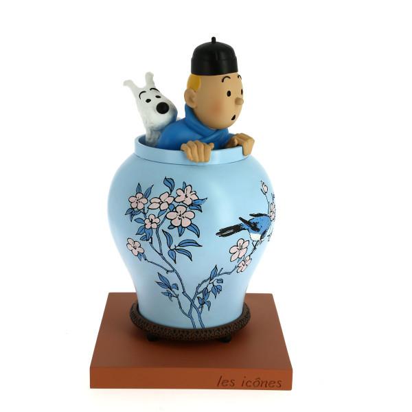 Tintin Icons Blue Lotus Vase