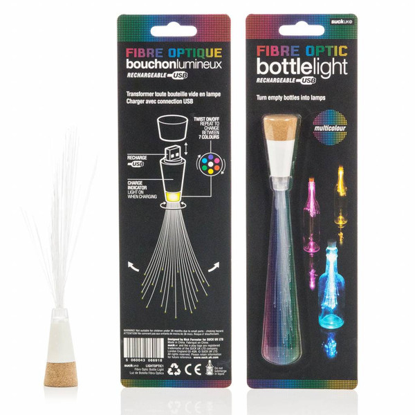 Multicolour Bottle Fibre Optic Light / USB Rechargeable