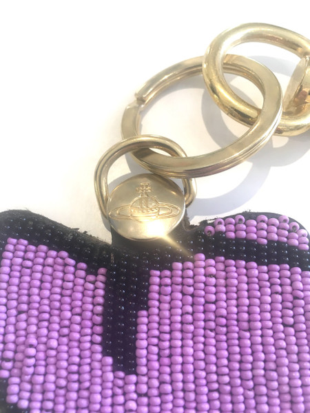 Vivienne Westwood Beaded Heart Key Ring