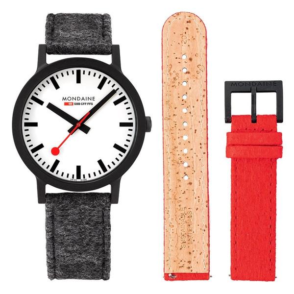 Official Swiss Railways Watch Essence [41 mm Ø] / 2 Felt Bands