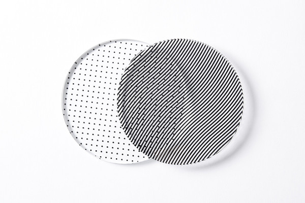Glass  Coasters Moiré  Set of 4