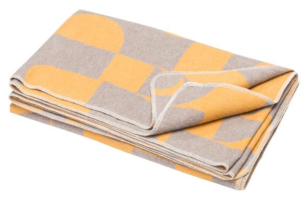 Fussenegger Blanket-Throw / Silvretta Grafik gold-grey